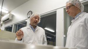 Galena Pharman toimitusjohtaja Atte Kukkonen ja Fennogate Finland Oy:n toimutusjohtaja Antti Pylkkänen.