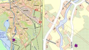 Kartta Seinäjoelle tulevan asuinalueen sijainnista