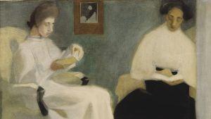Maailmalta löysin itseni kertoo, kuinka Helenestä tuli Helene. Näyttely keskittyy erityisesti Schjerfbeckin matkoihin Pohjois-Ranskan Pont-Aveniin, Italian Fiesoleen sekä Iso-Britannian St Ivesiin 1800-luvun lopussa. Lukevat työt, 1907
