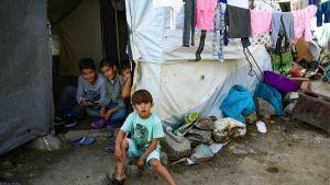 Morian pakolaisleiri Lesboksella Kreikan saarilla.