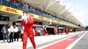 Sebastian Vettel, Braslia 2019. Kisa päättyi keskeytykseen, kolari Leclercin kanssa.