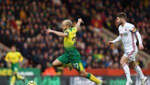 Teemu Pukki Norwich City Ollie Norwood Sheffield United