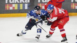 Teemu Turunen ja Tomas Zohorna Helsingin EHT-turnauksessa marraskuussa.