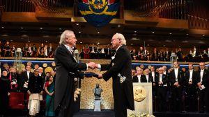 Itävaltalainen kirjailija Peter Handke vastaanottaa kirjallisuuden Nobel-palkinnon.
