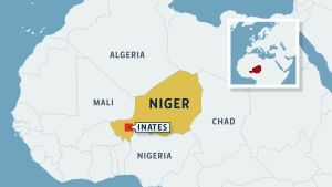 Niger Inates kartta.