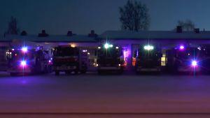 Firetruck light show.