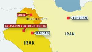 Iran, Irak kartta