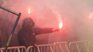 Bröndbyn kannattaja ottelussa Malmöa vastaan 2016
