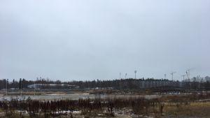 Vaasan entinesellä raviradalla tehdään maatöitä uutta asuinaluetta varten