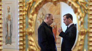 Vladimir Putin ja Dmitri Medvedev.