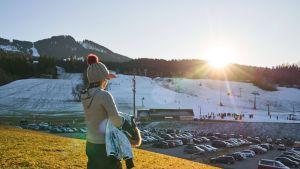 Lumen puutetta alppihiihtokeskuksessa Saksassa tammikuussa 2020.