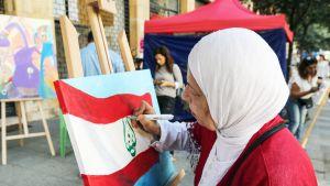 Naistaiteilija Tripolissa