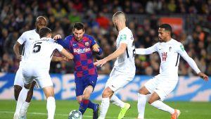 Lionel Messi oli merkitty mies Granadan pelaajille