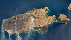NASAn välittämä kuva Australian maastopaloista 9. tammikuuta.