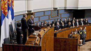 Presidentti Sauli Niinistön puhui valtiopäivien avajaisissa eduskunnan istuntosalissa Helsingissä 5. helmikuuta 2020.
