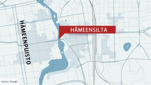 Kartta Hämeensillan sijainnista