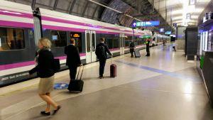 Helsinki Airport underground train station.