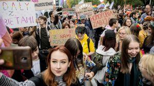 Pride-marssi Puolan Lublinissa.