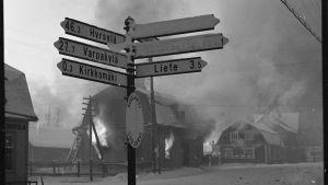 Suvilahden taajama palaa 2.12.1939