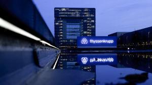 ThyssenKruppenin päämaja Essenissä.