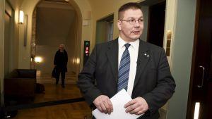Perussuomalaisten kansanedustaja Juha Mäenpää.