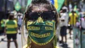 Hengityssuoja Copacabanalla.