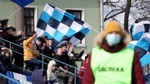 Valko-Venäjän cupin ottelussa oli tunnelmaa 22. maaliskuuta 2020.