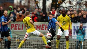 Inter ja KuPS ratkaisuottelussa 2019 Kupittaalla.