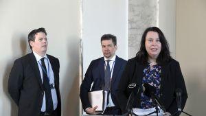 Johanna Ojala-Niemelä, Matti Marttunen ja Mikael Koillinen