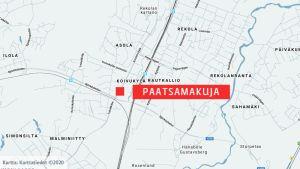 Kartta Paatsamakujasta.