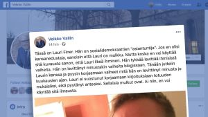 Käsitelty kuvakaappaus Veikko Vallinin Facebook-sivuilta.