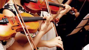 lapset soittavat viulua