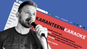 Karanteenikaraoke web-sivu ja Ville Rannila