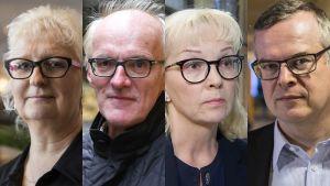 Jaana Paanetoja, Seppo Koskinen, Irma Pahlman ja Lasse Lehtonen