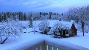 Lumisade peitti keväisen luonnon uudelleen lumeen 11. toukokuuta.