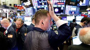 Pörssimeklareita New Yorkin pörssissä maaliskuun 16. päivä.