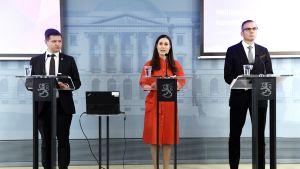 Mikko Koskinen, Sanna Marin ja Ahti Kurvinen