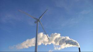 Tuulivoimalla voidaan korvata muuta sähköntuotantoa
