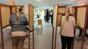 Nuoret äänestävät.