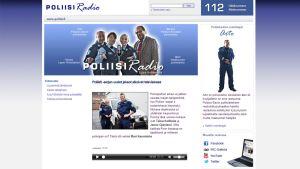Kuvakaappaus poliisiradion nettisivuilta.