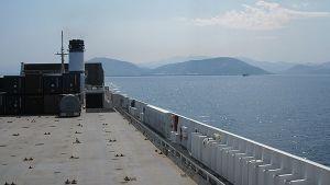 Rahtilaiva Espanjan Bilbaon maisemissa