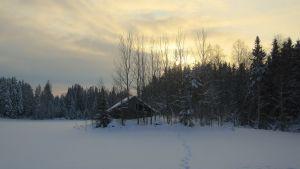 Lato lumisen pellon keskellä