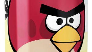 Yksityiskohta Angry Birds -virvoitusjuomatölkistä.