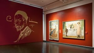 Näkymä Ateneumissa avautuvasta Carl Larssonin näyttelystä