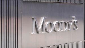 Kyltti Moody's:in New Yorkin konttorin ulkopuolella.