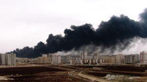 Öljyputki räjäytettiin Homsissa myös 8. joulukuuta 2011.