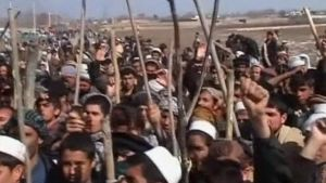 Mielenosoitus Baghlanissa.