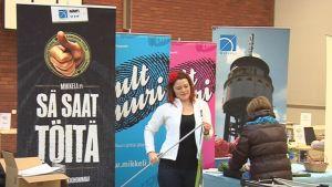 Rekry-messuilla Mikkelissä tapasivat työnantajat ja opiskelijat.