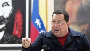 Hugo Chavez puhuu.