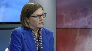 Heidi Hautala speaking on Yle television.